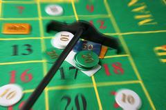 Addiction budget building casino chance gambling Stock Photos