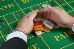 Addiction casino chance gambling kettle leisure Stock Photos