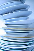 Business house chinaware enterprise cleaning Stock Photos