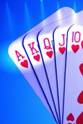 Leaf addiction gambling give king lady leisure Stock Photos