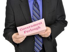 Government furlough - stock illustration
