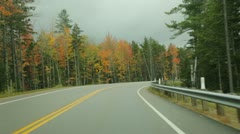 Driving Kancamagus Highway, New Hampshire, in autumn Stock Footage
