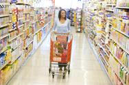 Stock Photo of Woman shopping at a grocery store