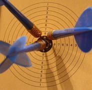 Meeting aim arrow career carry education finish Stock Photos