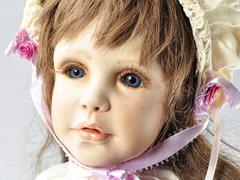 Vintage doll portrait Stock Photos