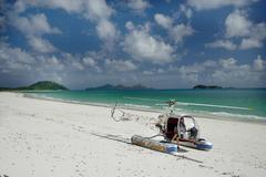 Stock Photo of beach water aviation machine calm coast deserted