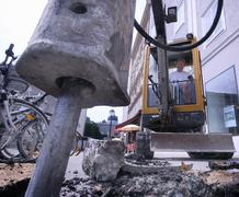 Asphalt building industry permit community site Stock Photos