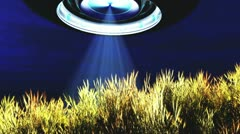 Ufo Skannaus yli Wheat Field Arkistovideo