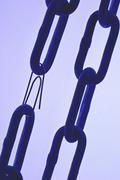Art chain halt hard hold iron left strength Stock Photos