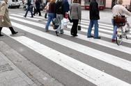Stock Photo of cross crosswalk danger human pedestrian crossing