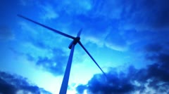 Wind turbines generating electricity. - stock footage