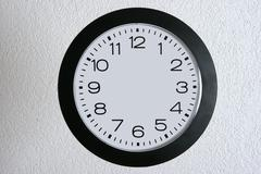 hand clock express fast hasty time hecticness - stock photo