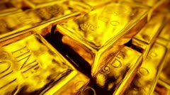 Exclusive gold bars - stock footage