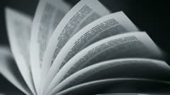 Book's pages turning.Learning education, study and wisdom. Reading books Stock Footage