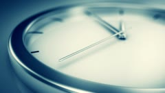 Simple modern clock. - stock footage
