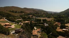Panning shot over Carmel Valley California Stock Footage
