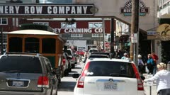 Stock Video Footage of Cannery Row busy  tourists Monterey California
