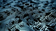 PCB background loopable animation. Stock Footage