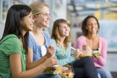 Students having lunch - stock photo