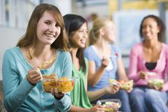 Stock Photo of Students having lunch