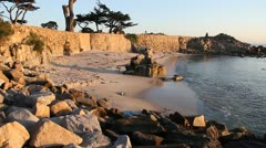 Lovers point Pacific Grove California Stock Footage