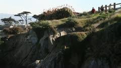 rocky shoreline Monterey Bay - stock footage