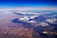Snow mountain aerial view Stock Photos