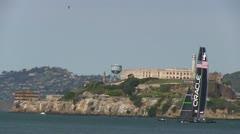 America's Cup, Alcatraz Island Stock Footage