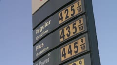 HIGH EXPENSIVE GAS PRICES SIGN SLOW ZOOM VIDEO FOOTAGE STOCK HD 1080 Stock Footage