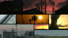 Montage different forms of energy Stock Footage