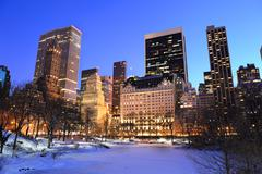 Stock Photo of new york city manhattan central park panorama in winter