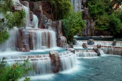 waterfall mountain, las vegas - stock photo