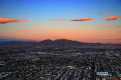las vegas sunset - stock photo