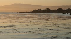 Monterey Bay at sunrise Stock Footage