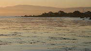 Monterey Bay at sunrise Stock Footage