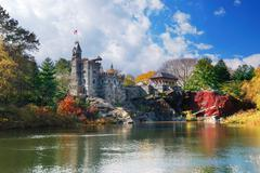 New york city central park belvedere castle Stock Photos