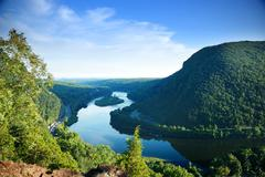 mountain peak view - stock photo