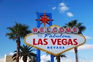 Stock Photo of las vegas welcome sign