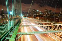 New york city brooklyn bridge Stock Photos