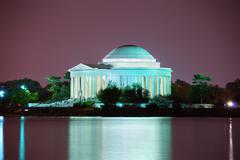 thomas jefferson memorial closeup, washington dc - stock photo