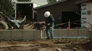 Stock Video Footage of construction worker with tamper