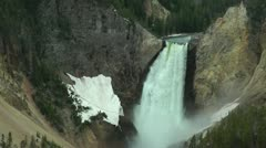 Lower Yellowstone Falls Stock Footage