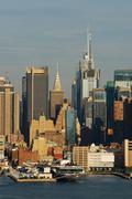 Urban city sunset Stock Photos