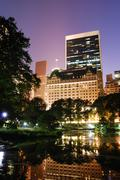 new york city central park night view - stock photo