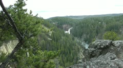 Upper Yellowstone Falls Stock Footage