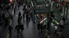 Busy Kyoto Station Stock Footage