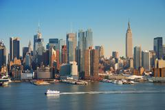 new york city with empire state building - stock photo
