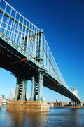new york city manhattan bridge - stock photo
