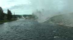 Yellowstone Firehole River Stock Footage