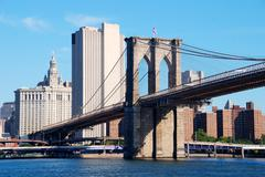 brooklyn bridge new york city - stock photo
